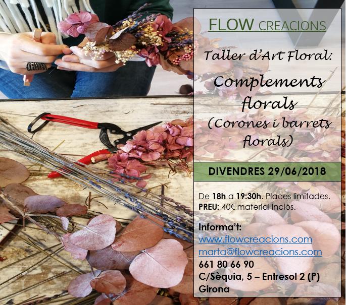 Taller d'art floral: Complements florals (corones i barrets florals)