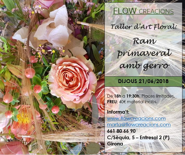 Taller d'art floral: Ram primaveral amb gerro